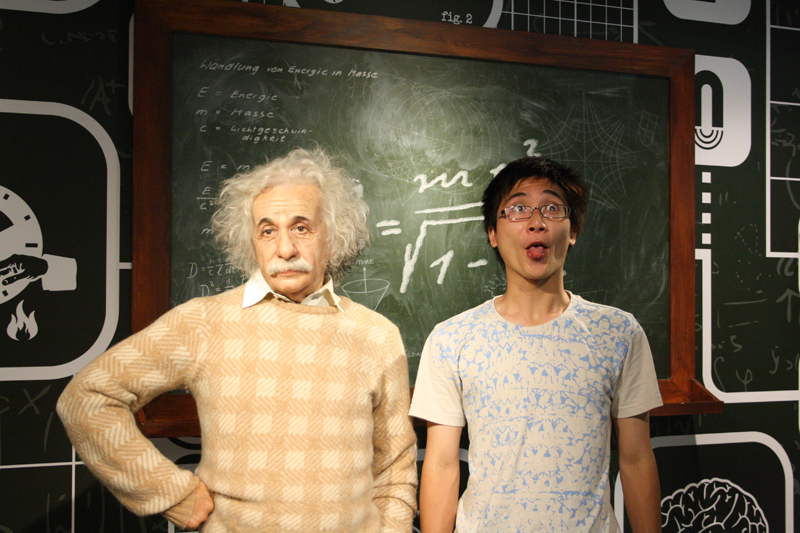 Brandon and Albert Einstein
