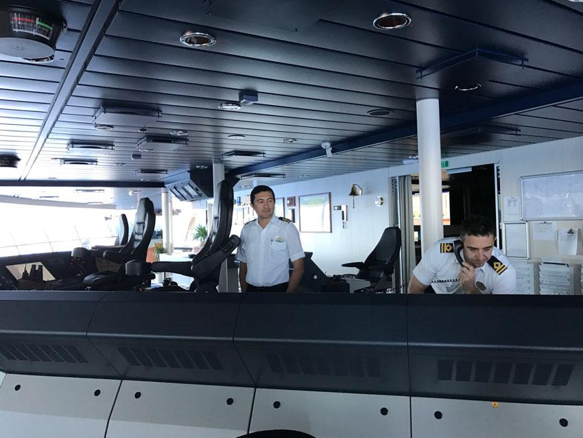Bridge officers in the bridge area