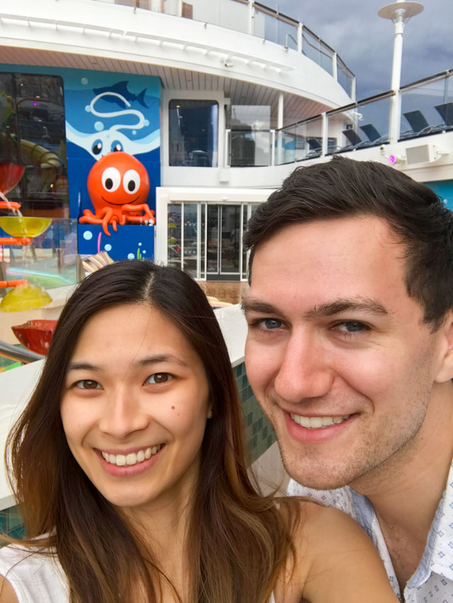 Me and Nick with the octopus in the background