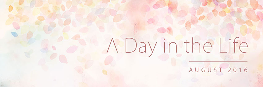 A Day in the Life: August 2016 Banner