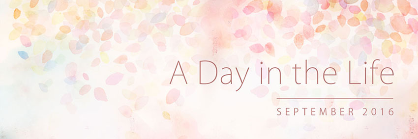 A Day in the Life: September 2016 Banner