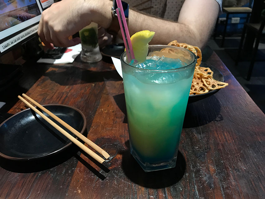 My China Blue cocktail