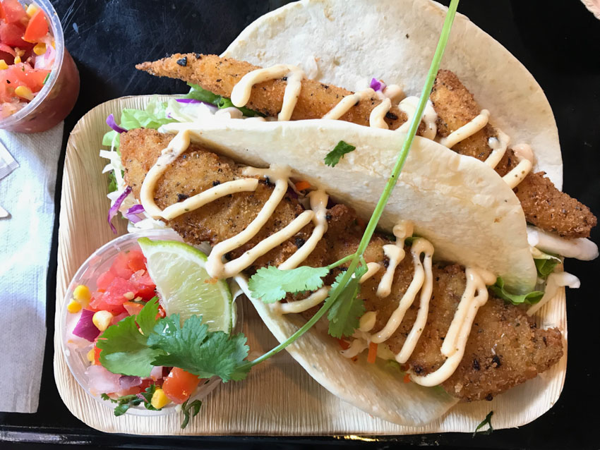 Fish tacos from Movie World