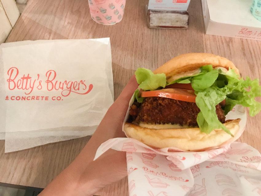 Veggie burger at Betty's Burgers