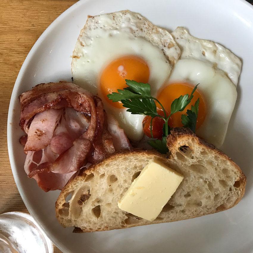 Nick's bacon & eggs