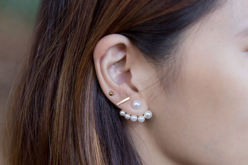 Earring close-up