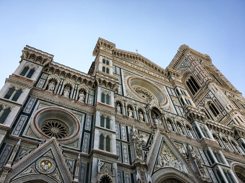 Low shot of the Duomo