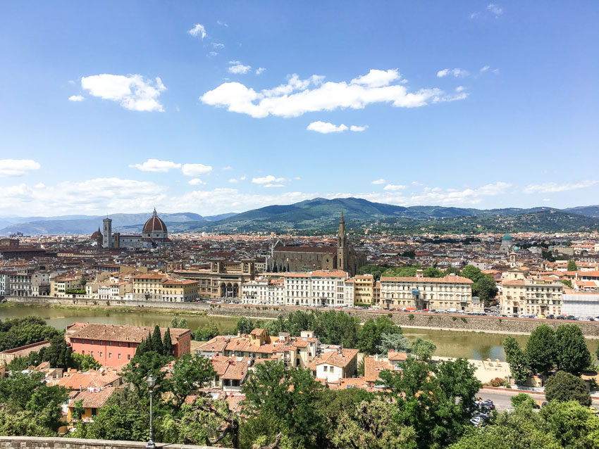 A beautiful view of Florence