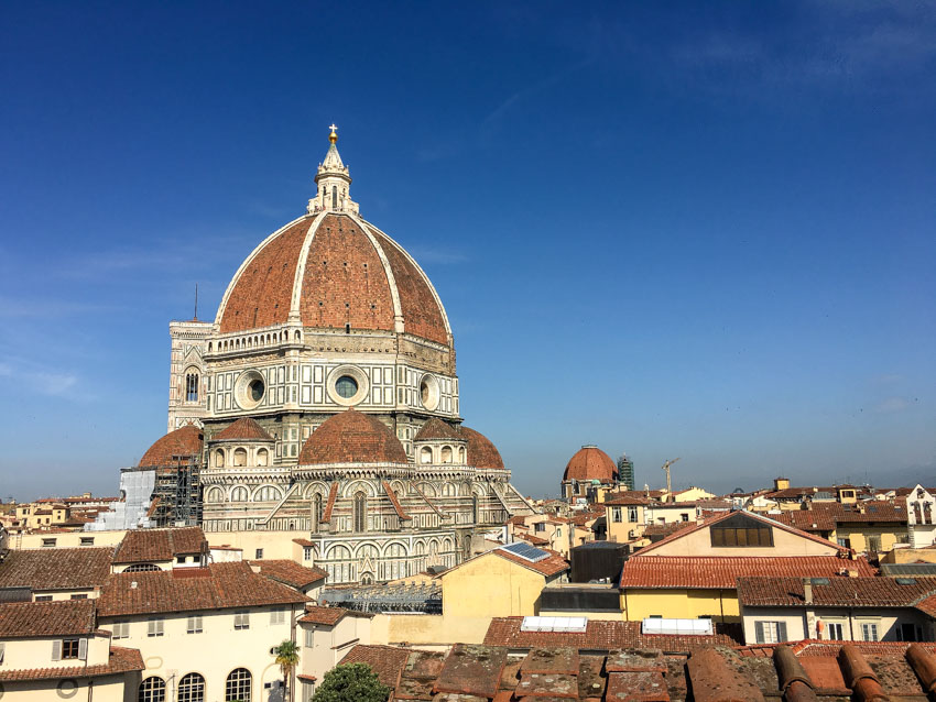 The Duomo from our rooftop in the evening
