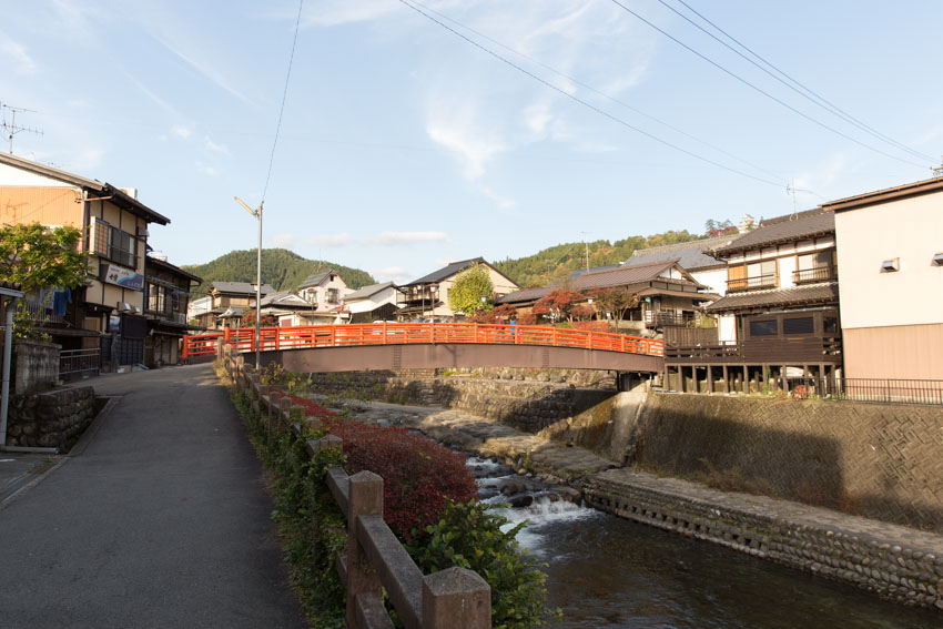 Shimizu Bridge with the river visible underneath