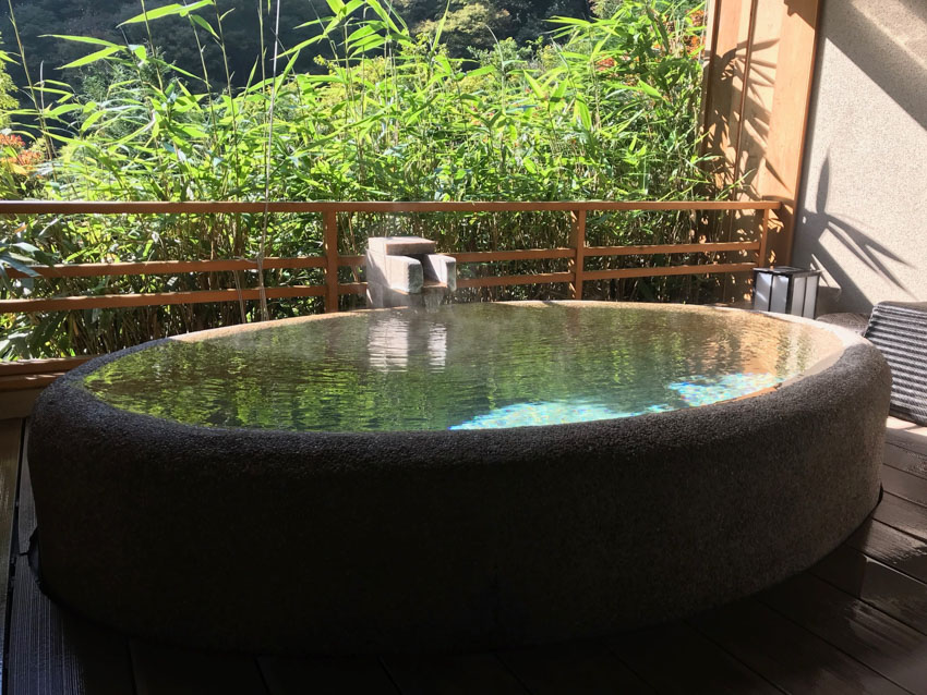 Our private onsen in daylight
