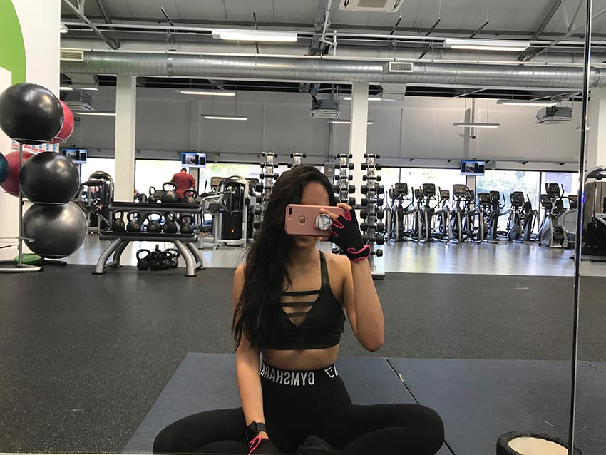 A gym selfie from Pauline