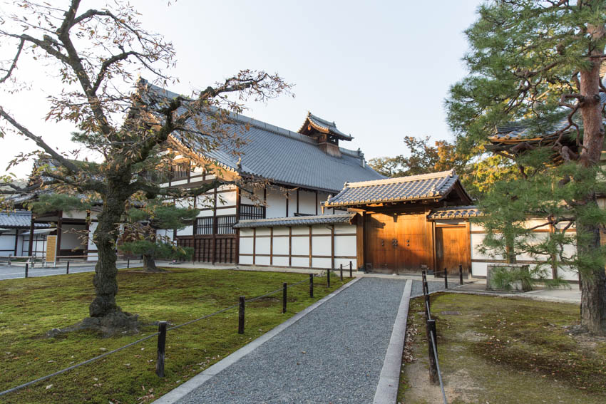 The buildings you can see prior to entering Kinkaku-ji