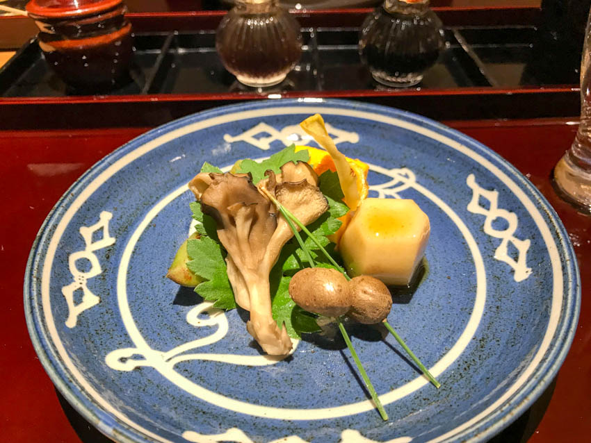 Lotus root as part of our kaiseki dinner