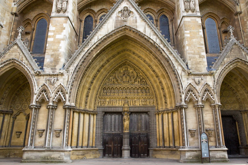 Side doors of Westminster Abbey
