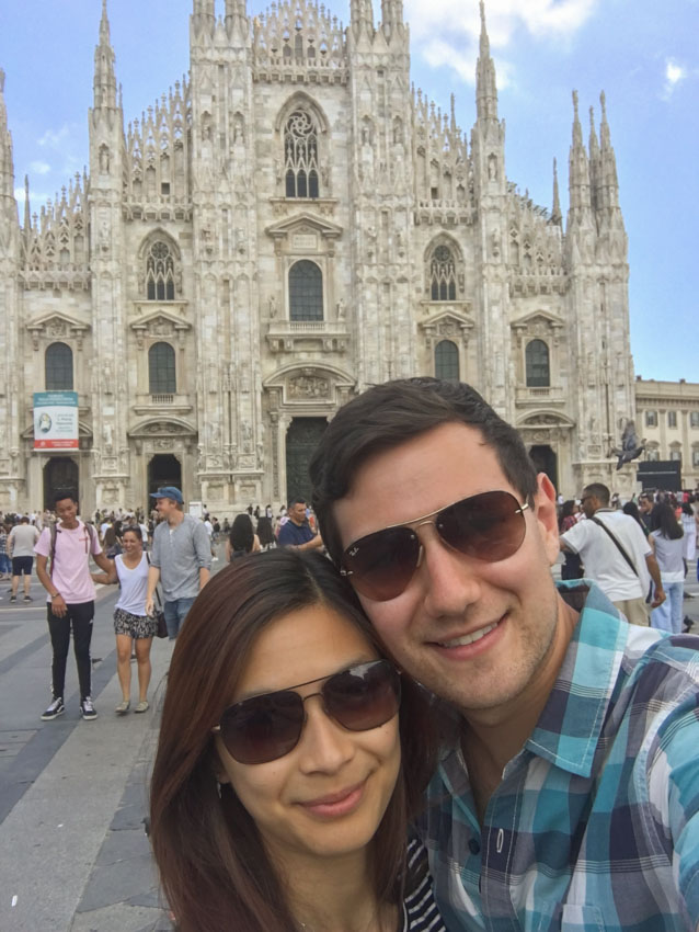 Myself and Nick in front of the Milan Cathedral