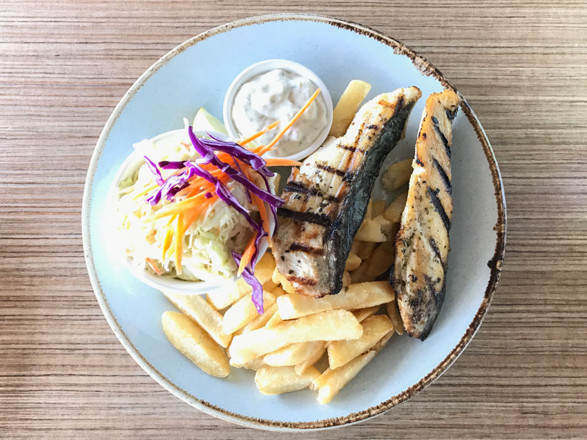 Mackerel and chips