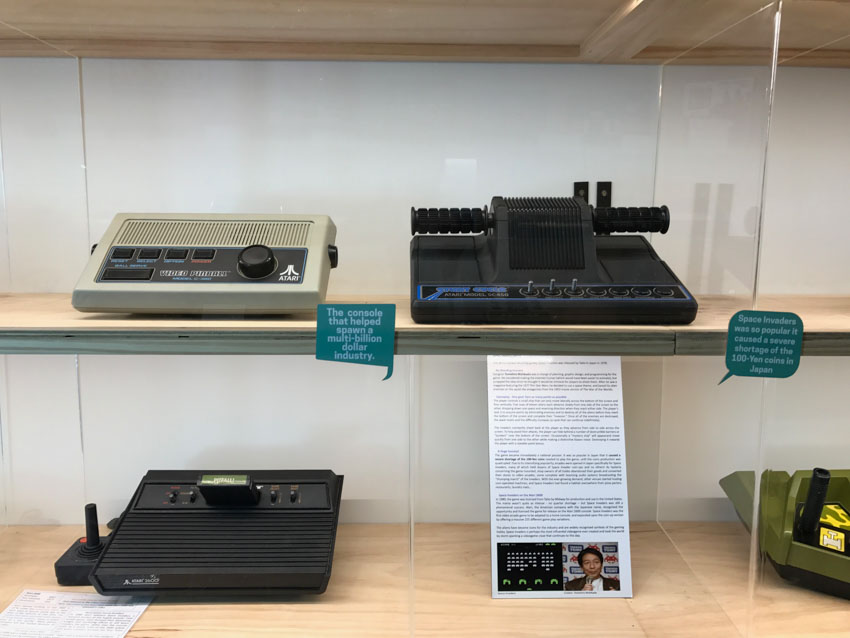 Some of the earliest gaming consoles on display