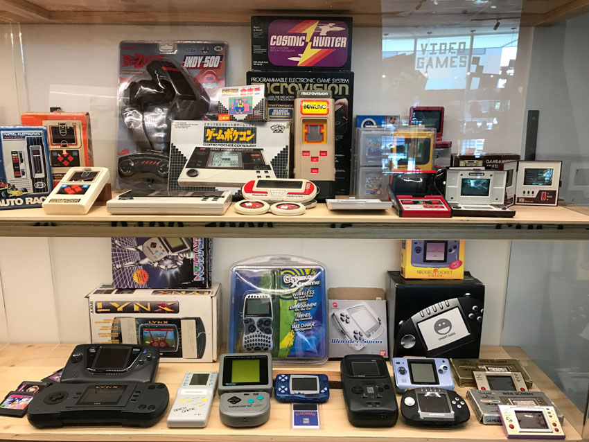 Display of handheld gaming consoles