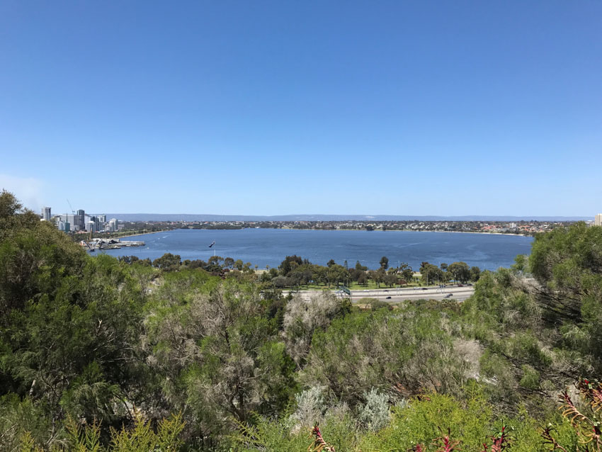 A wide view of the sea from Kings Park