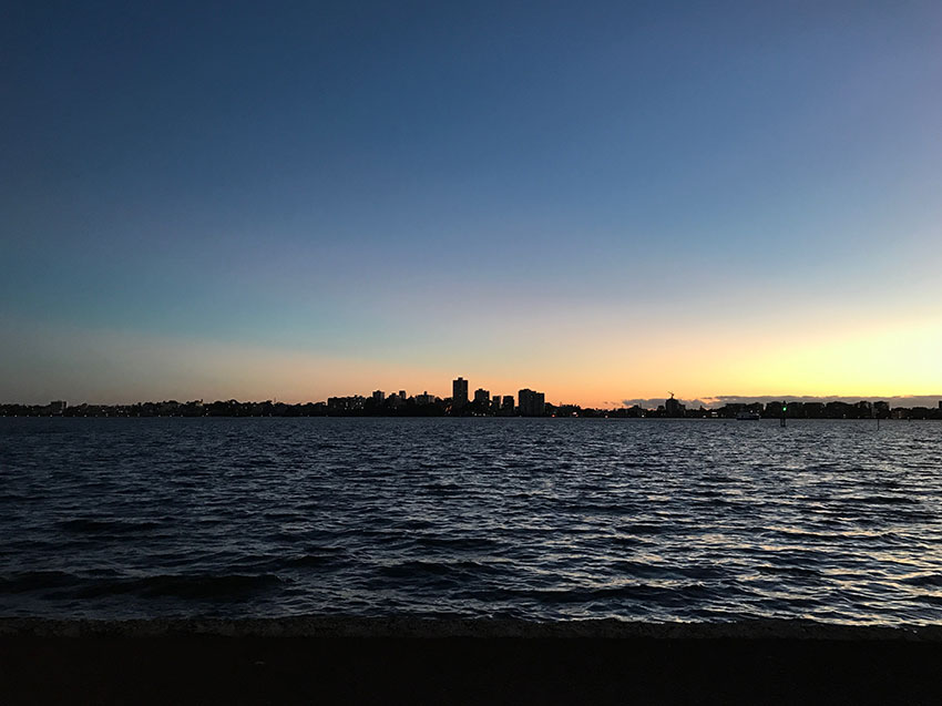 Perth Skyline over the Swan River