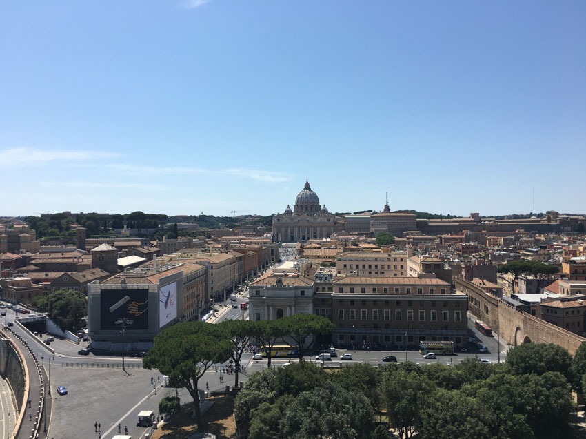 The Vatican as seen from Castel Sant'Angelo