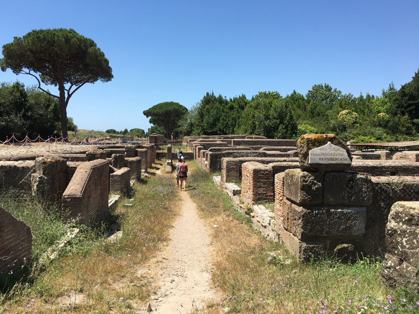 Ostia Antica near the start of the ruins
