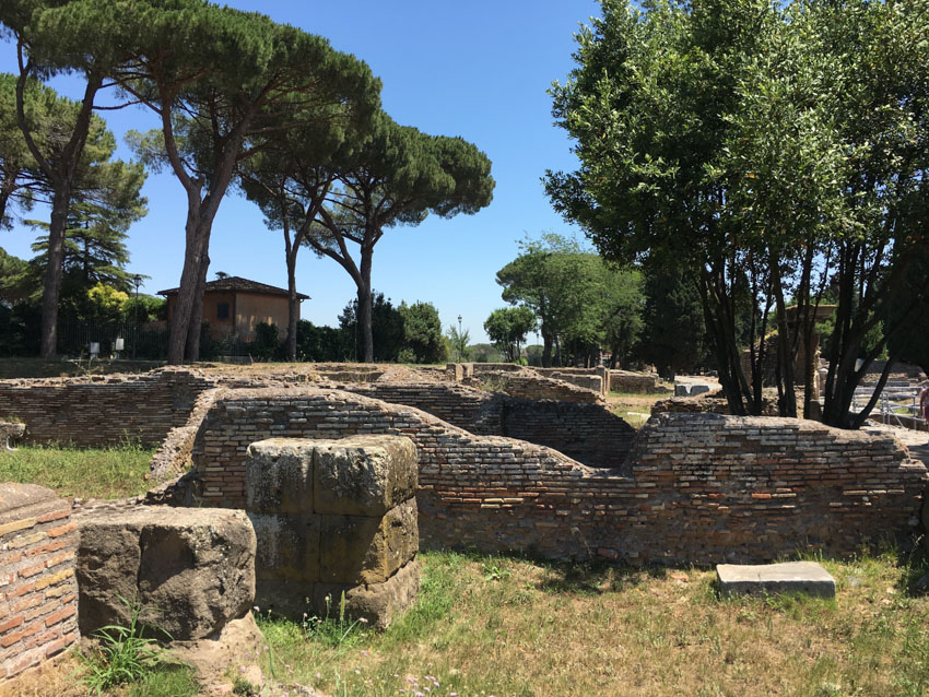 Some run-down walls in Ostia Antica