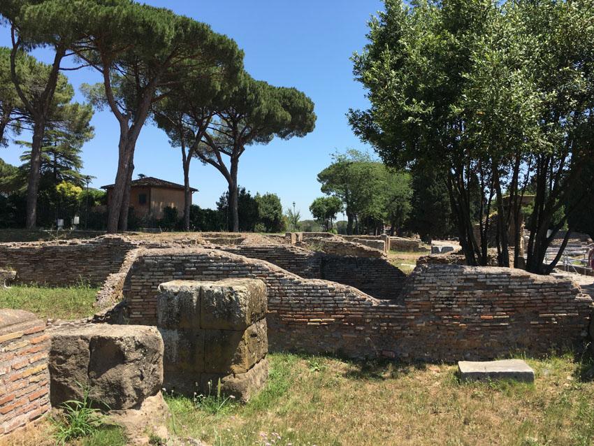 Some run-down walls in Ostia Antica