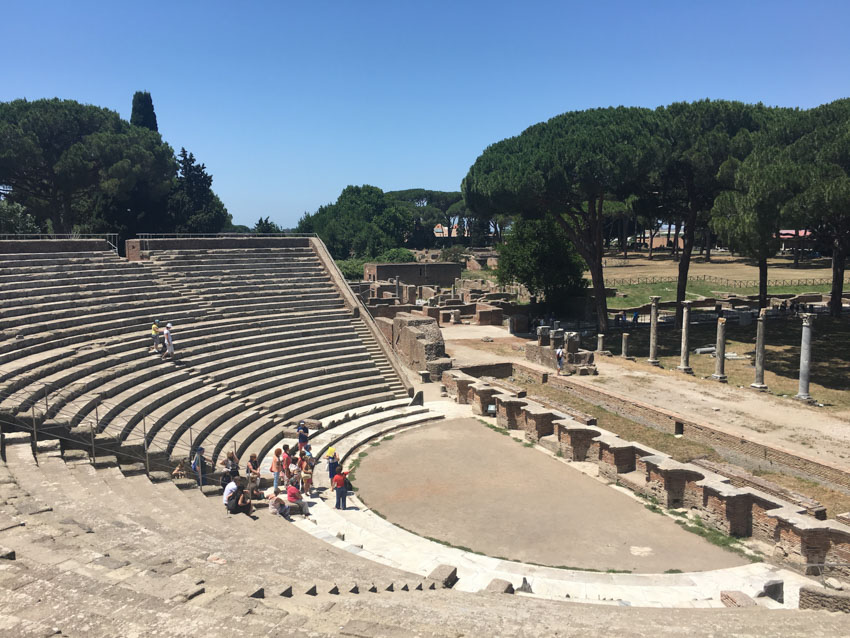 An old ampitheatre in Ostia Antica