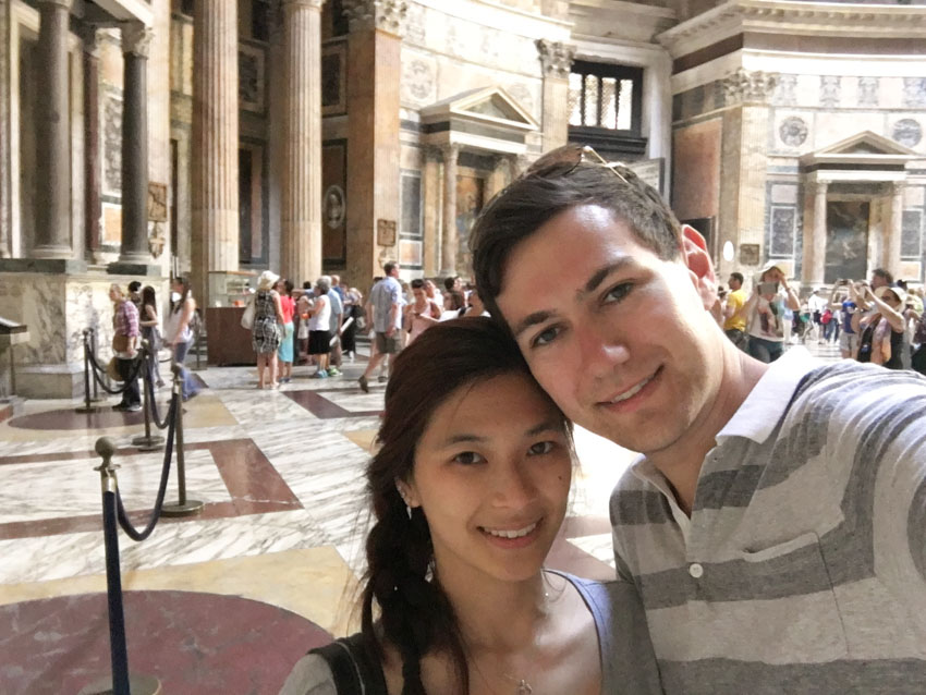 Me and Nick inside the Pantheon