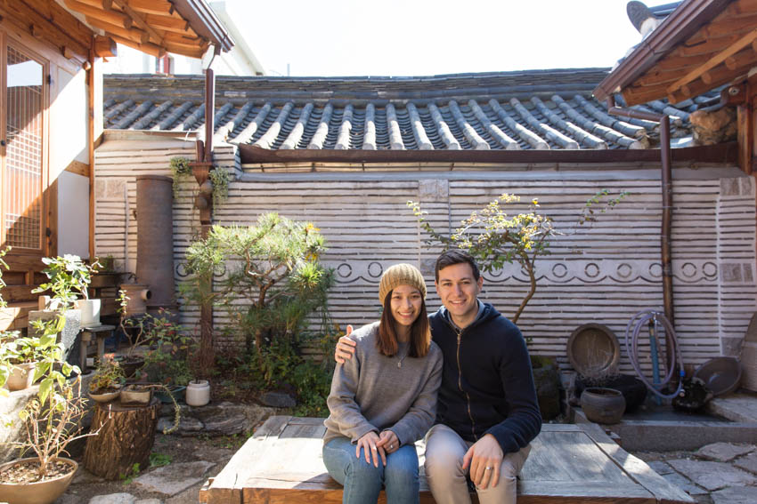 Me and Nick in a traditional Korean garden