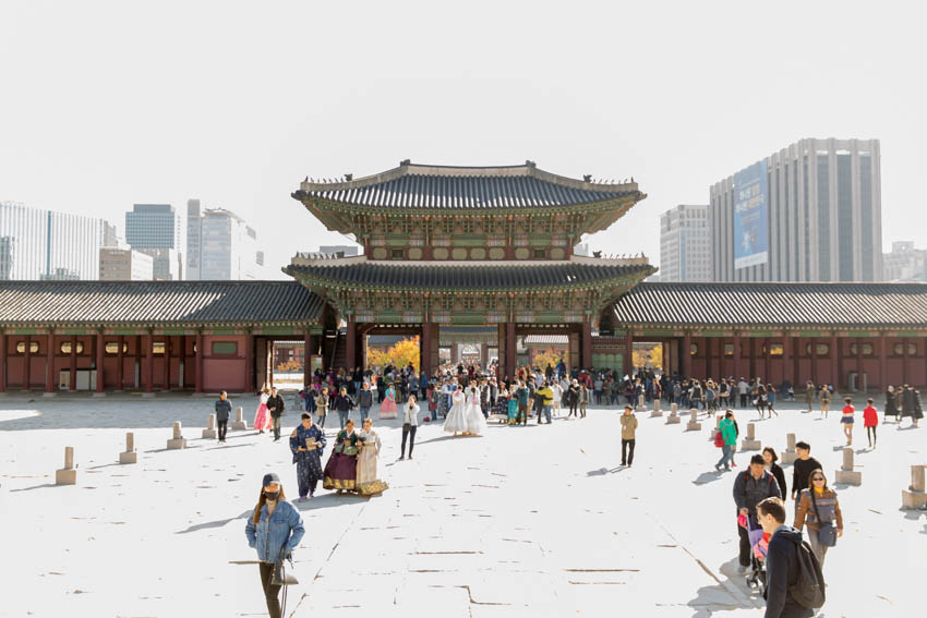 The exit of Gyeongbok