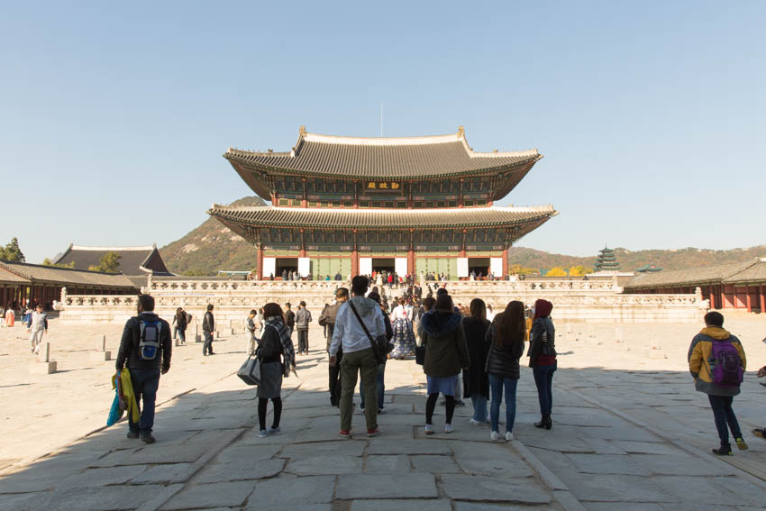 A view from the exit of Gyeongbok, looking back