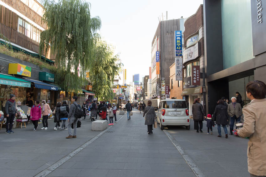 A view of a street in Insadong