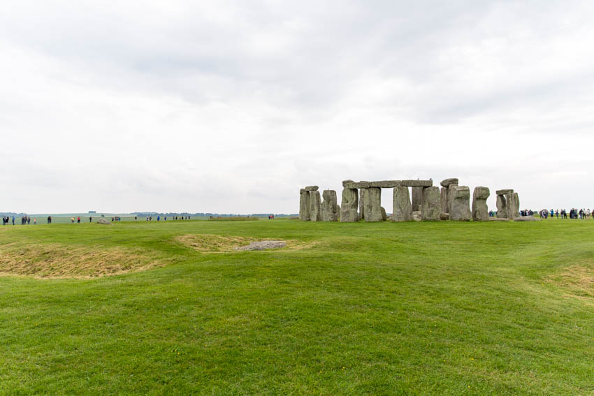 An artistic shot of Stonehenge, off centre