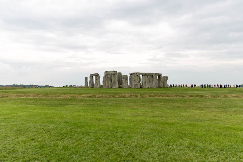 A far shot of the stones