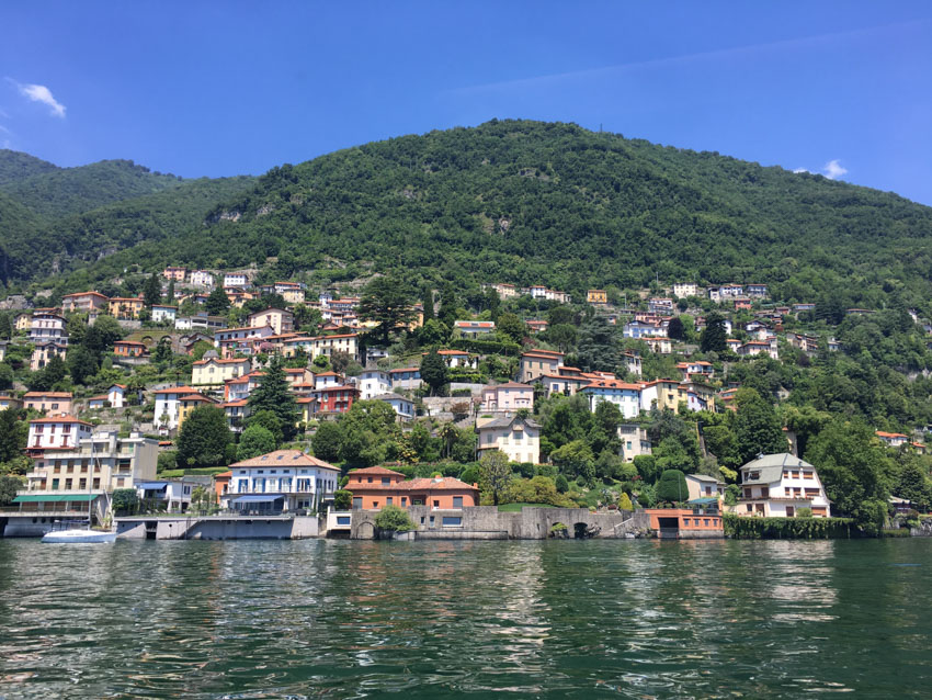 A view of some of the properties down Lake Como