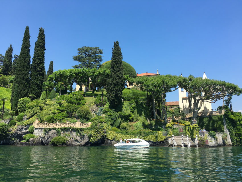 Villa del Balbianello as seen from the water