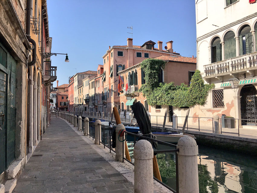 One of the quieter streets in Venice, near where we stayed