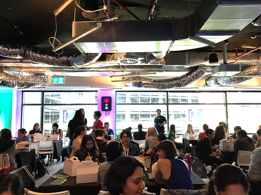 Women in the room at Women Techmakers Summit
