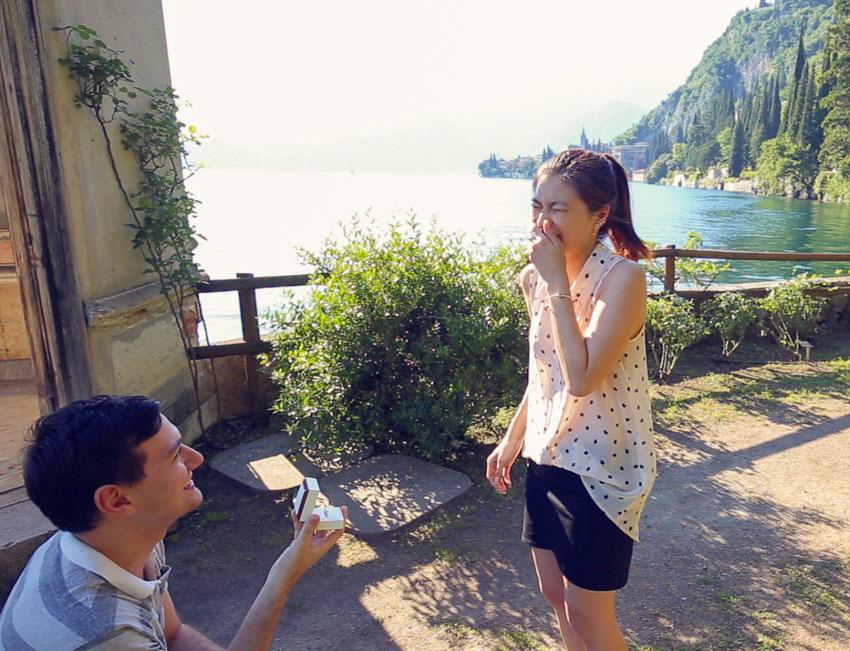 Nick proposing to me