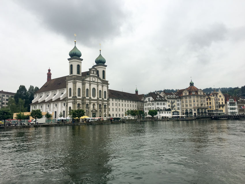 Old town of Lucerne over the river