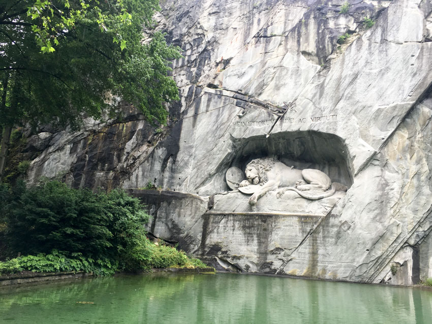 The stone Lion of Lucerne