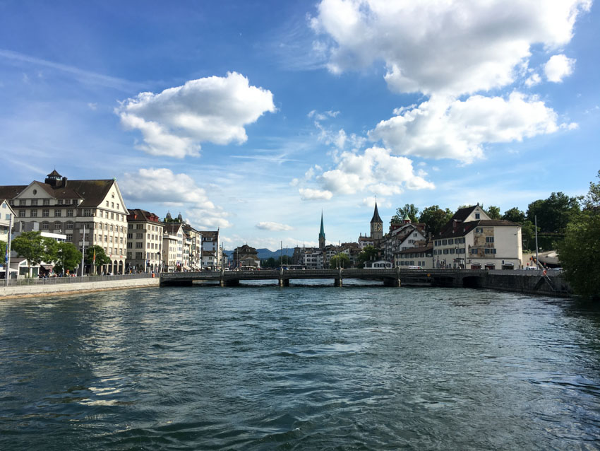 One of the many bridges in Zurich