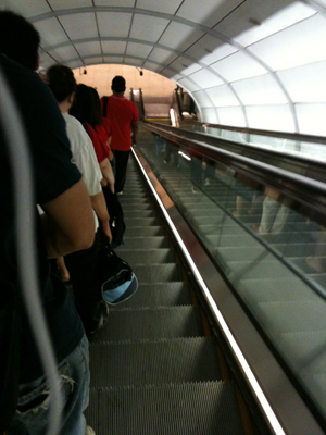 long escalator