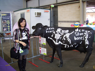 Me and a model cow.