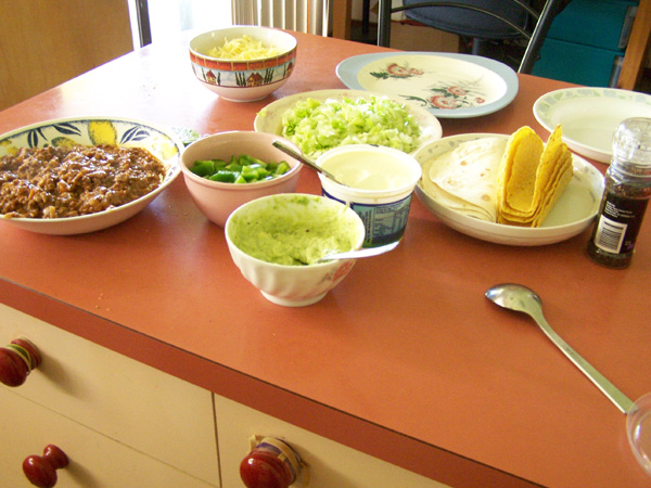 Taco preparation!