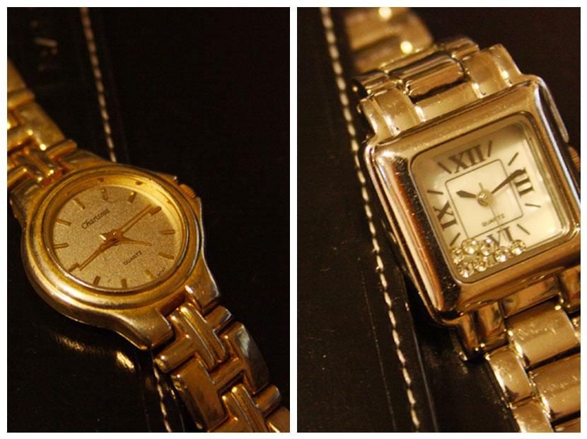 Two watches: one old, one new.