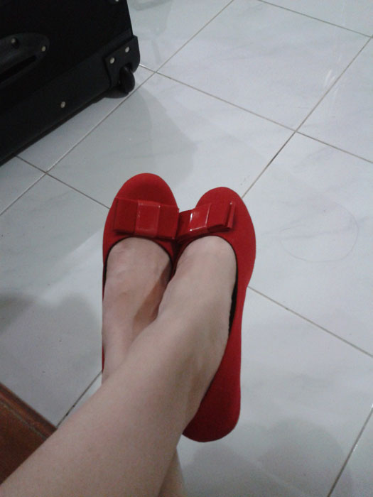 Red shoes!